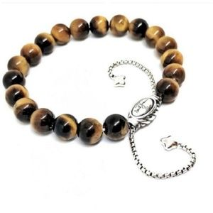 David Yurman Spiritual Tiger's Eye Bead Bracelet